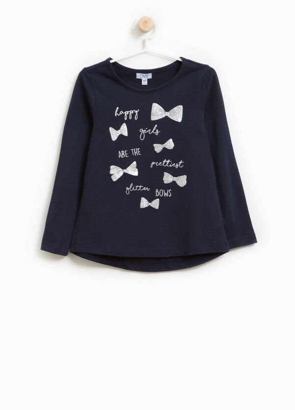 100% cotton T-shirt with bows print | OVS
