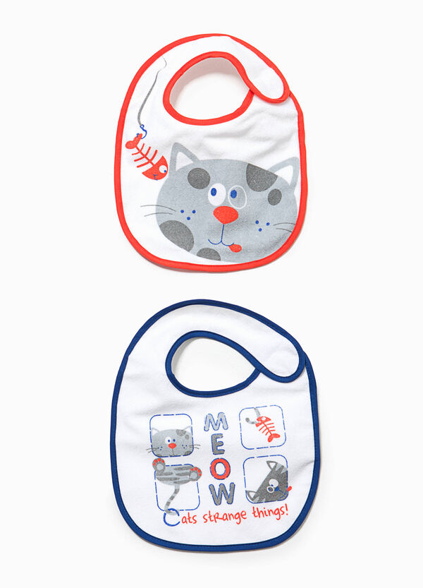 Two-pack bibs with cat print | OVS