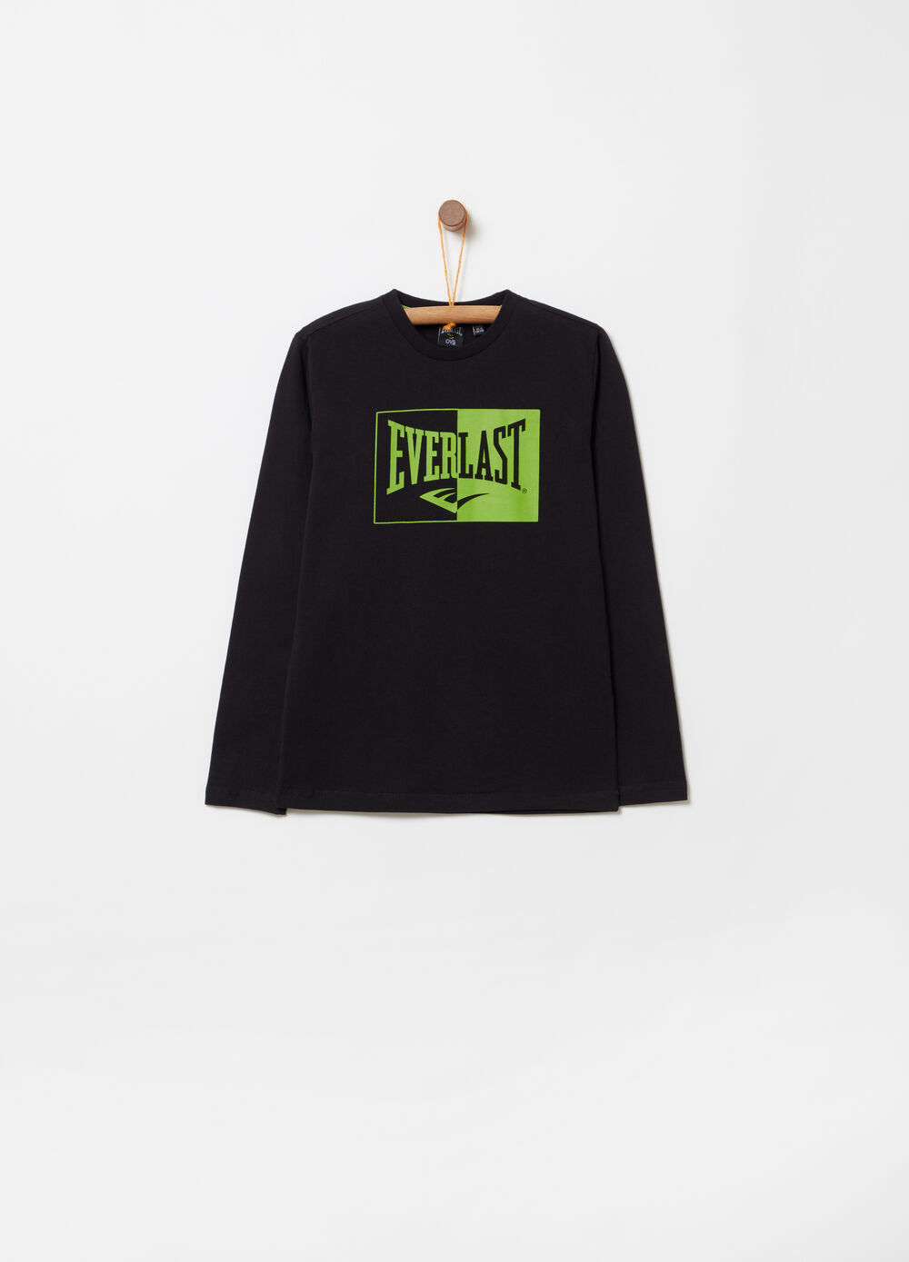 Jersey T-shirt with Everlast print