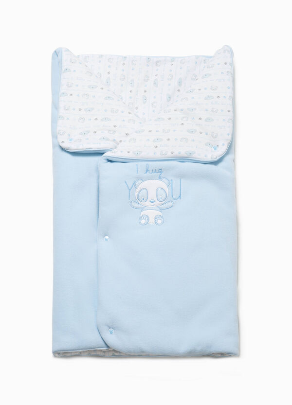 Baby sleeping bag with embroidery and patch | OVS
