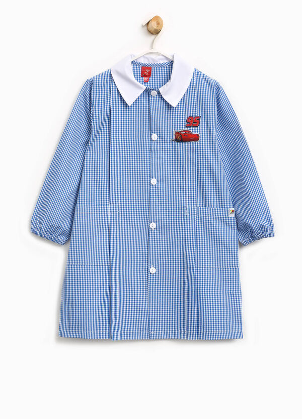 Micro check smock with Cars patch | OVS