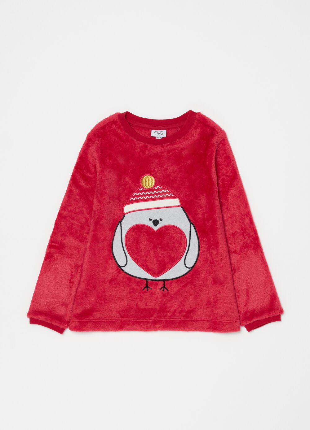 Pyjamas with hearts pattern and embroidery