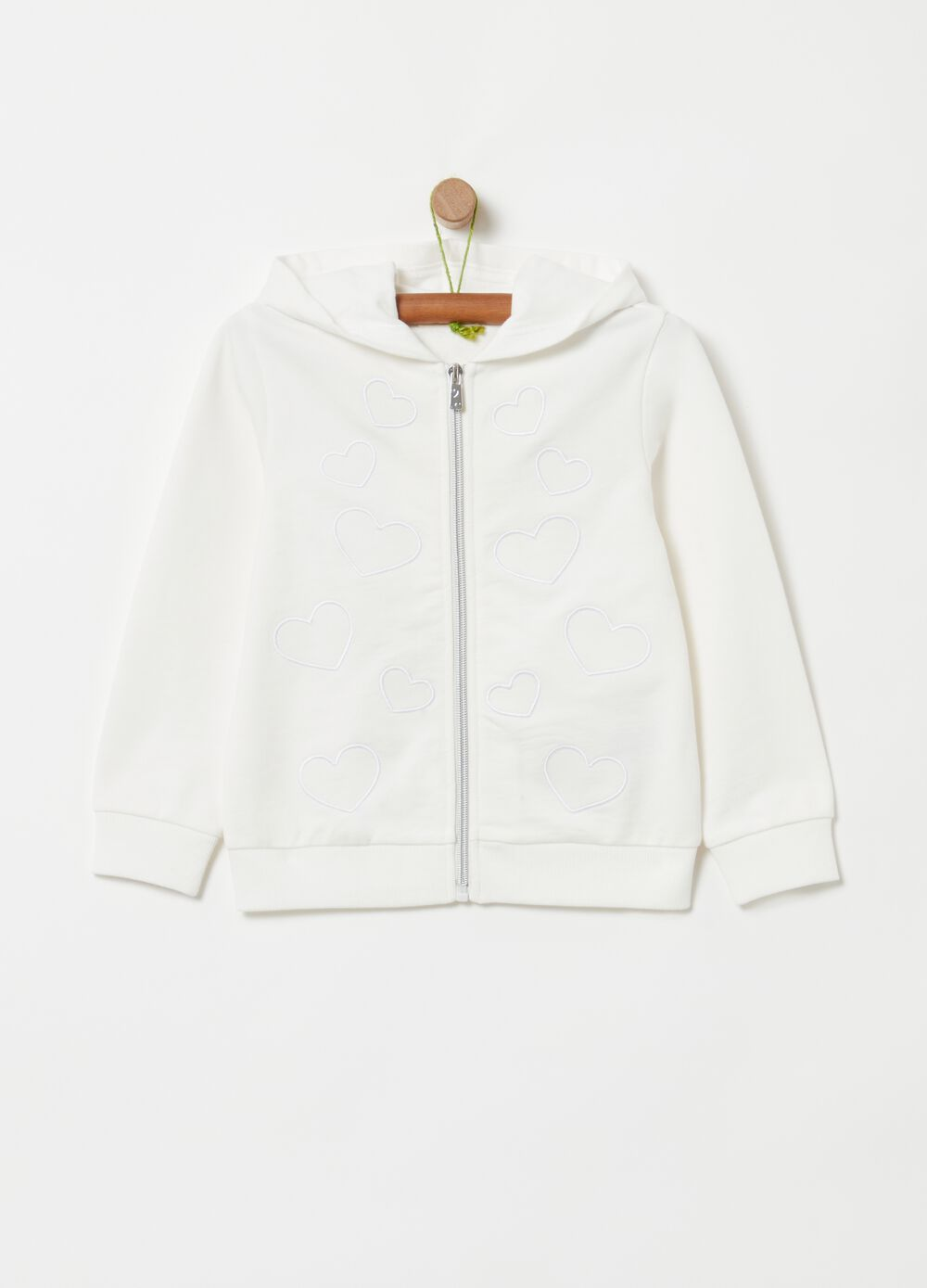 100% cotton sweatshirt with embroidery