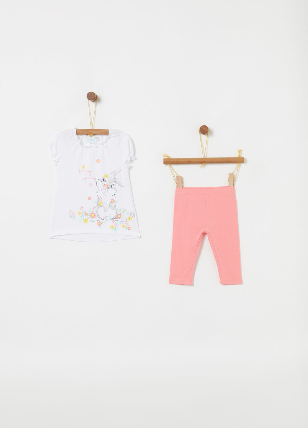 Disney Baby Bambi glitter jogging set with T-shirt