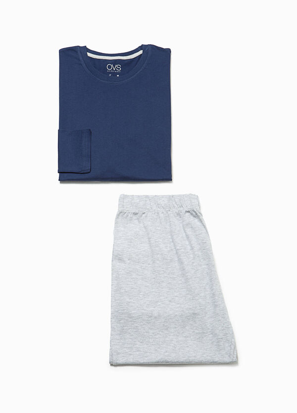 Pyjamas in cotton with crew neck top | OVS
