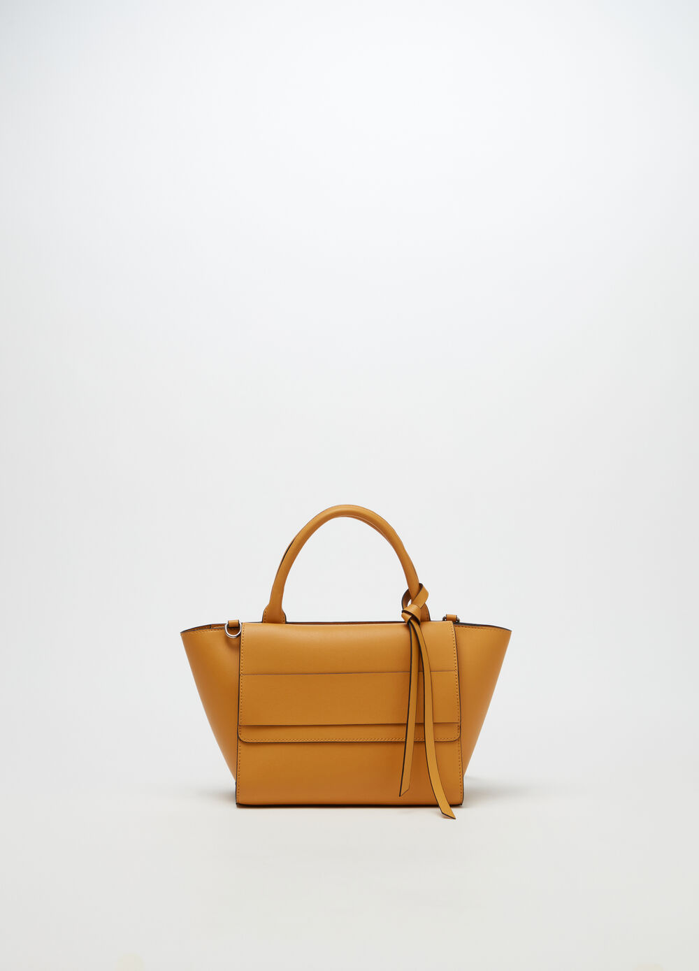 City bag with contrasting edging
