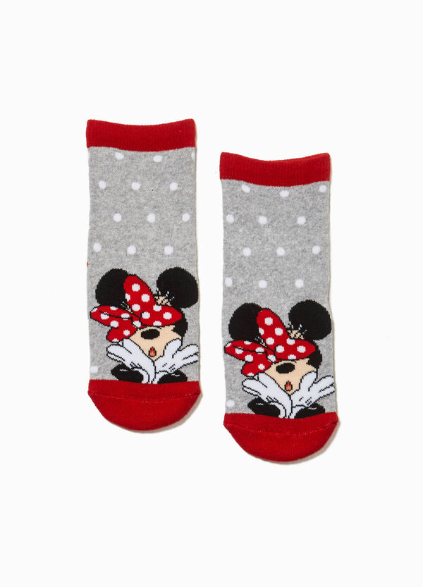 Non-slip embroidered Minnie Mouse socks