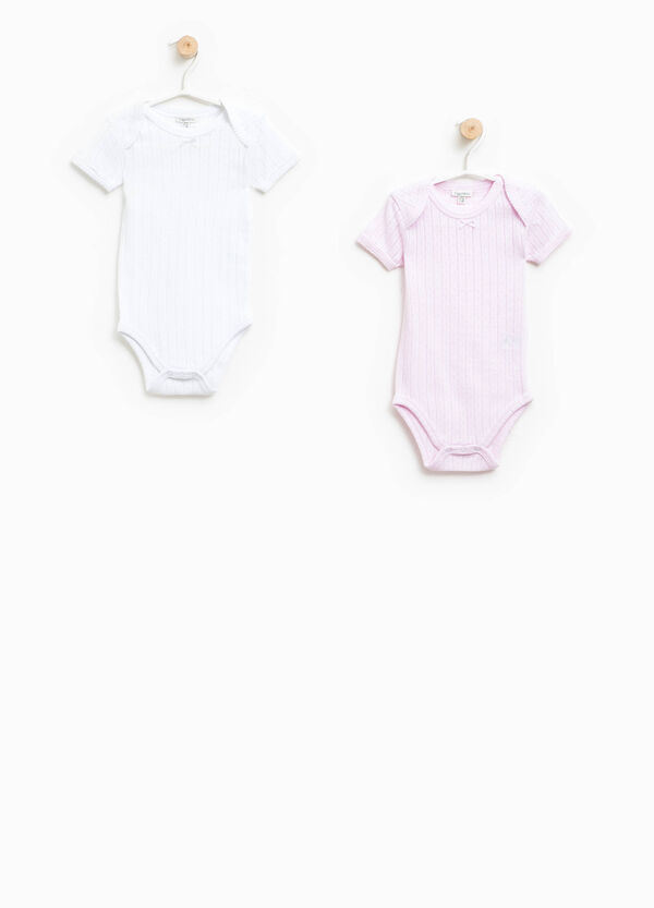 Two-pack openwork bodysuits in cotton | OVS