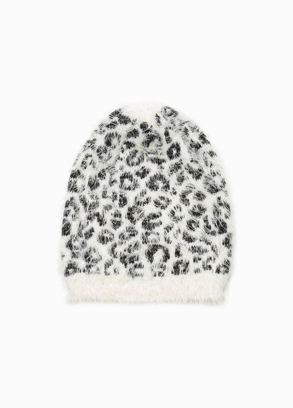 Frayed beanie cap with animal pattern | OVS