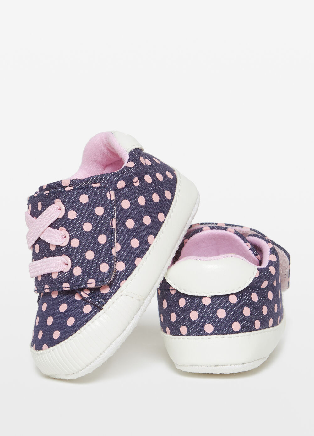 Polka dot denim sneakers