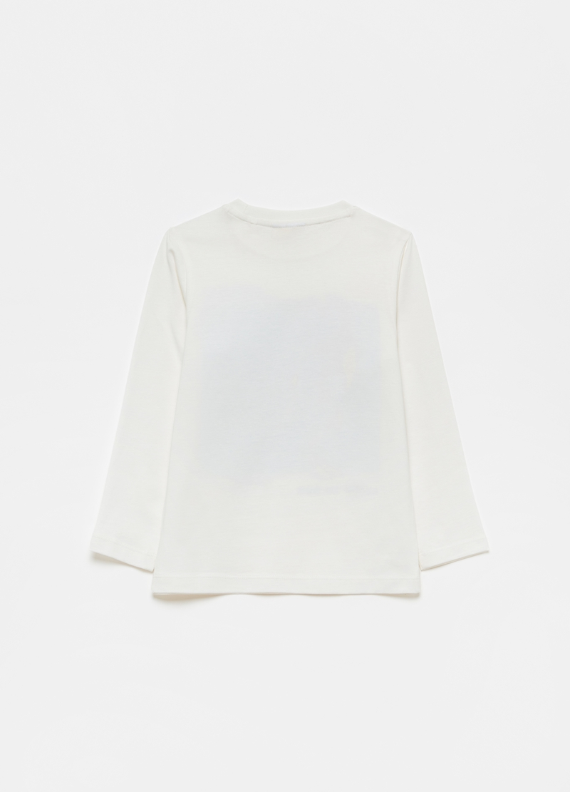 Long-sleeved T-shirt in 100% cotton image number null