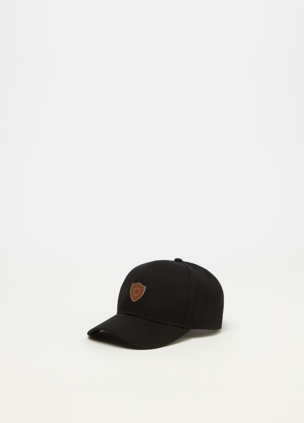 Cotton drill baseball cap with label