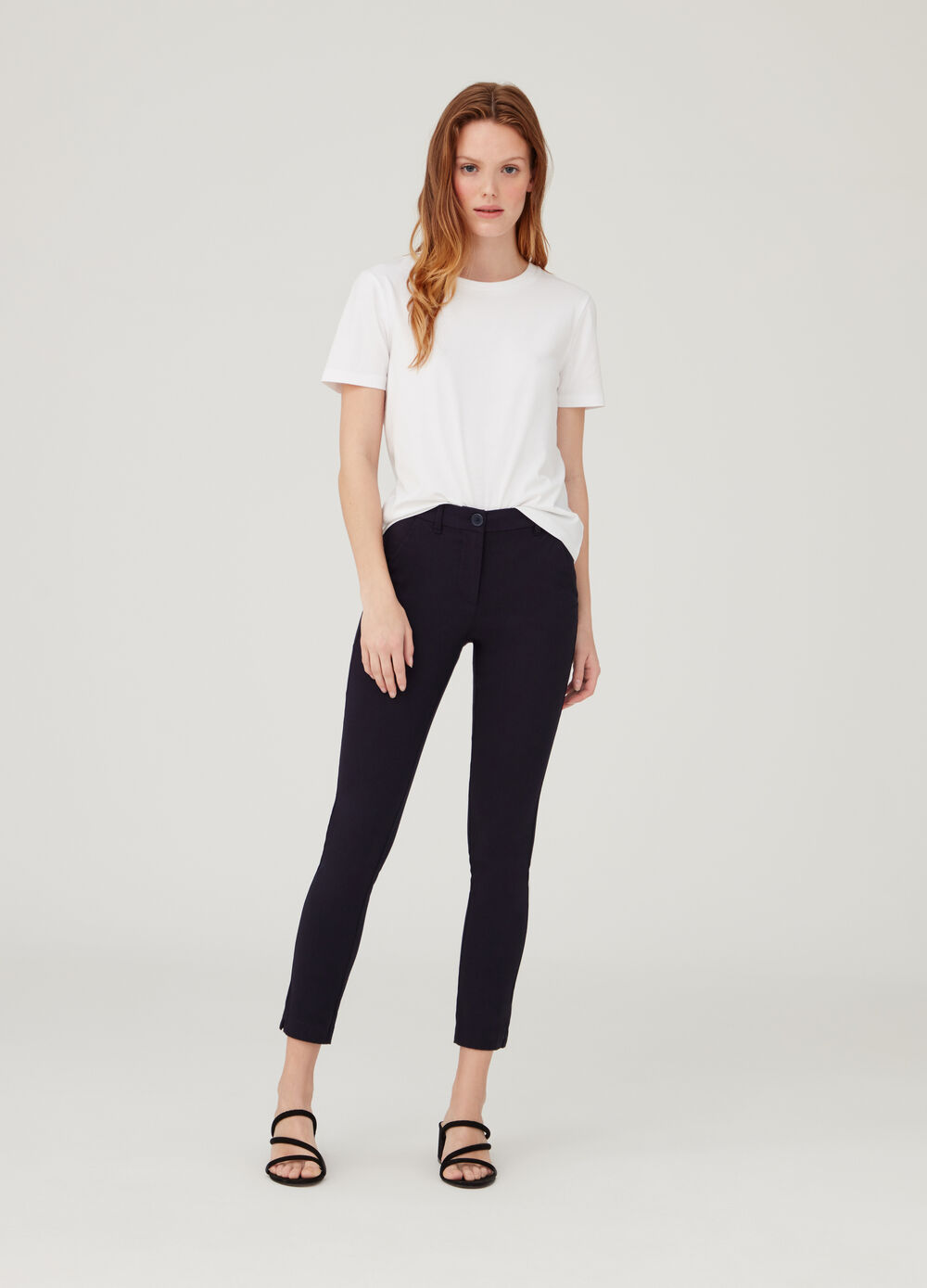 Stretch Bengaline chino trousers
