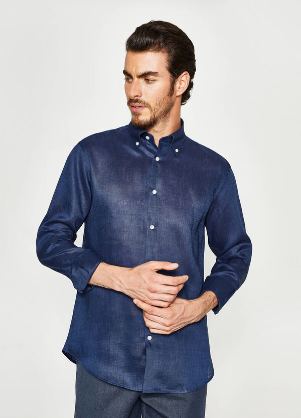 Camicia formale regular fit lino