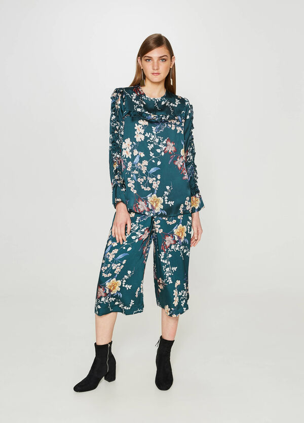 Floral patterned blouse with flounce   OVS