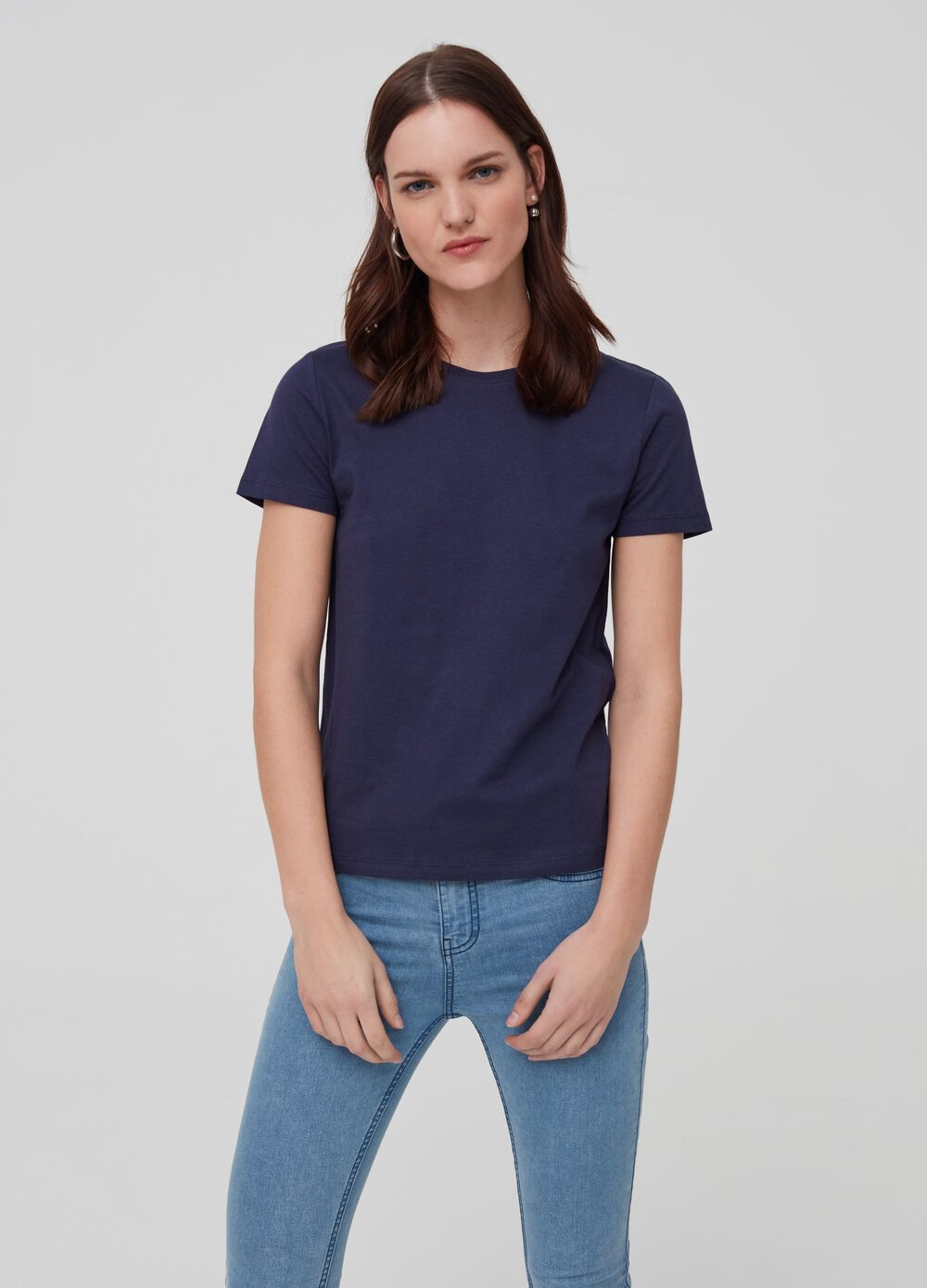 Solid colour T-shirt in 100% organic cotton