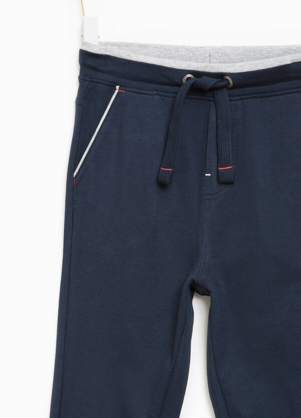 Cotton joggers with drawstring | OVS