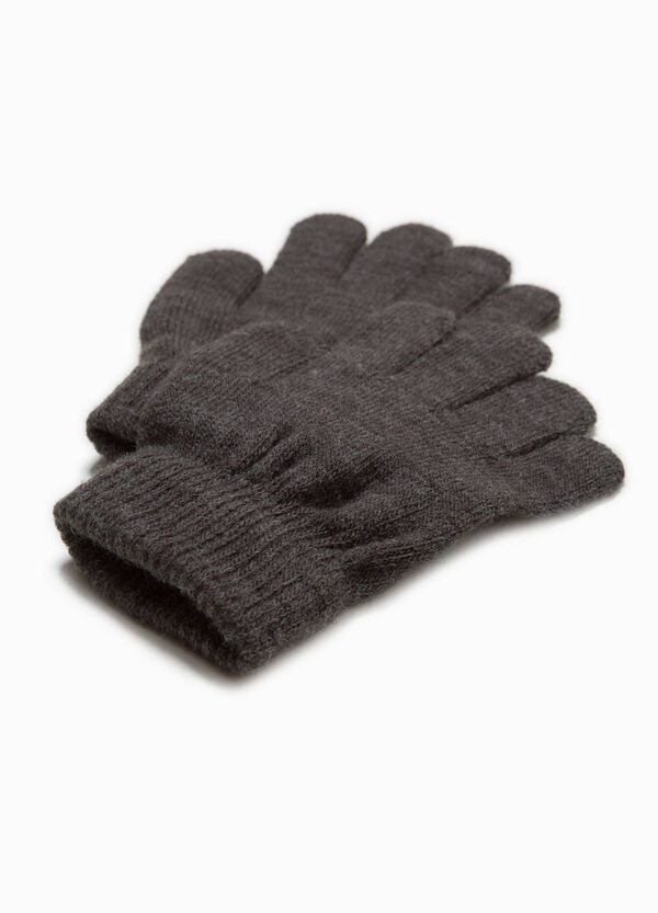 Solid colour gloves with ribbing | OVS