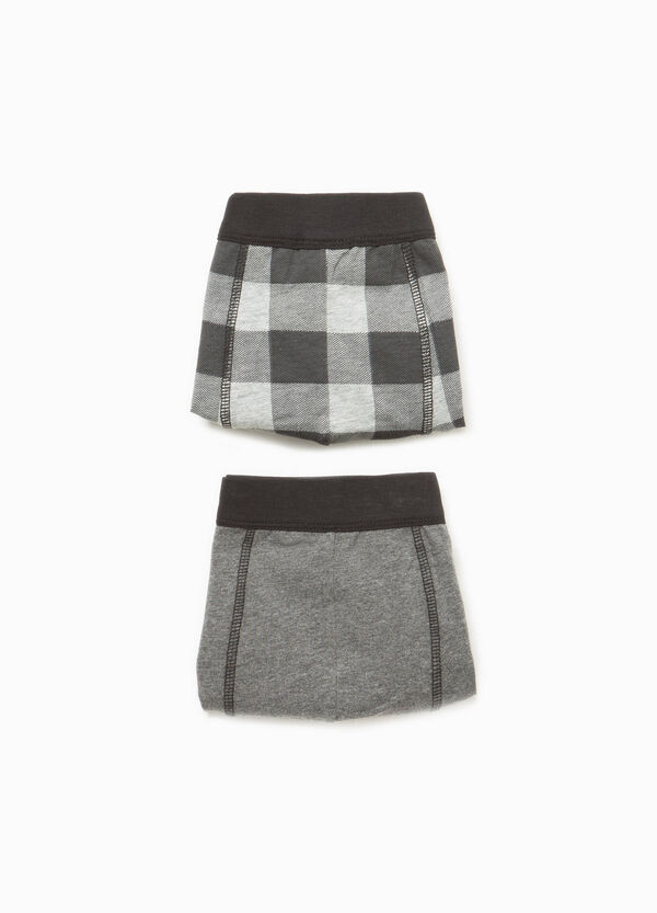 Two-pack stretch cotton check boxer shorts