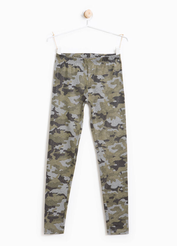 Leggings in cotone stretch camouflage | OVS