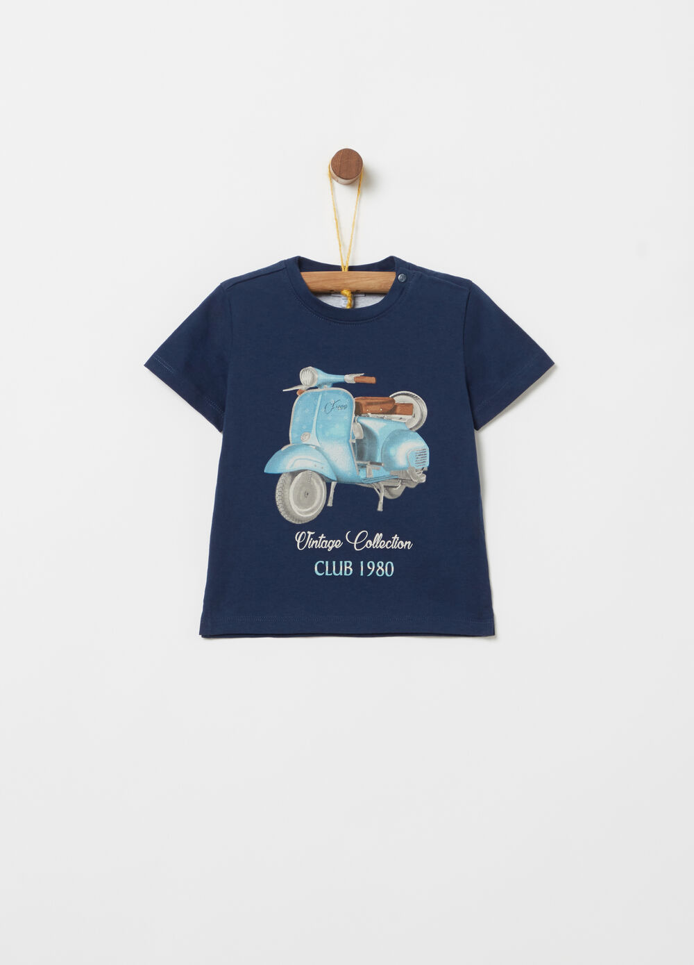 T-shirt in 100% cotton with vintage print