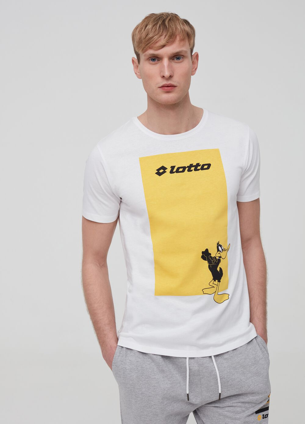 100% cotton T-shirt with Lotto print