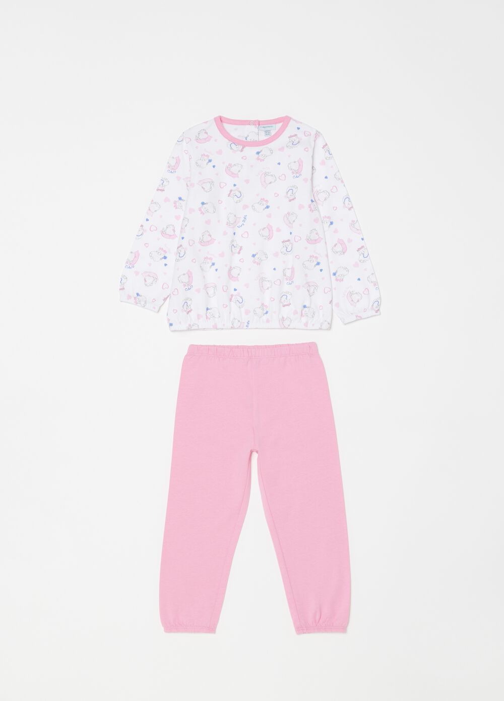100% biocotton pyjamas with kittens pattern