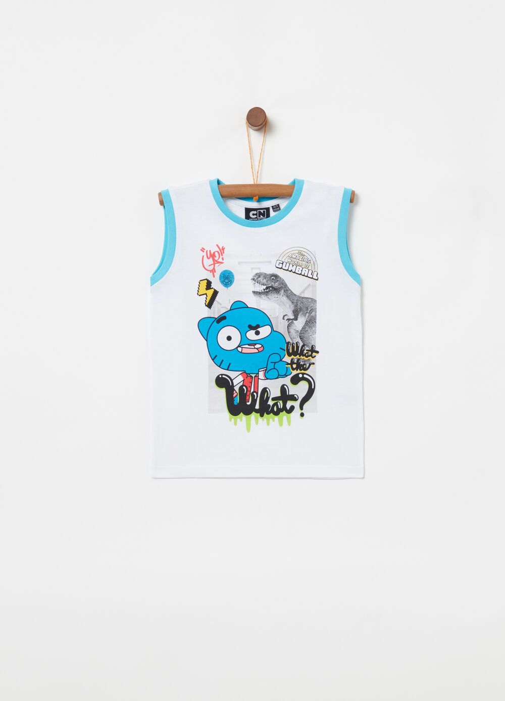 100% cotton vest with Gumball print