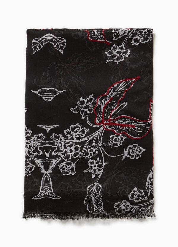 Embroidered floral scarf | OVS