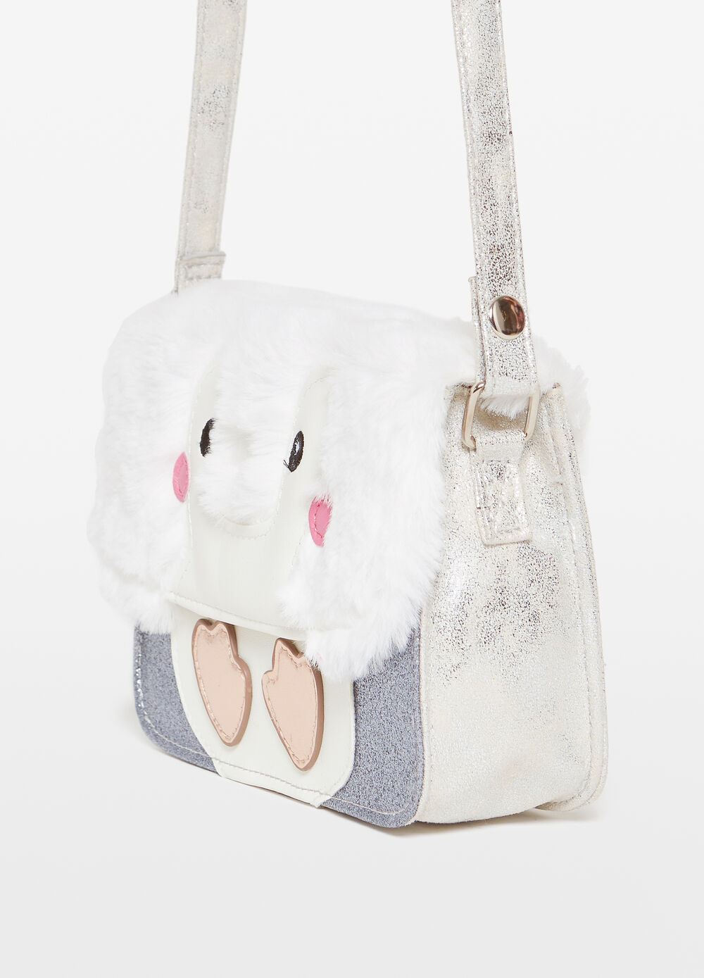 Glitter shoulder bag with owl