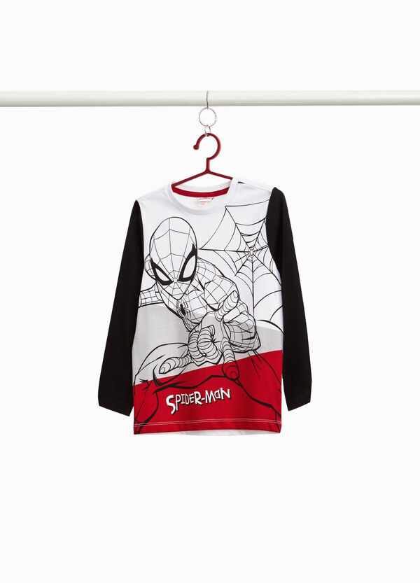 T-shirt with maxi Spiderman print