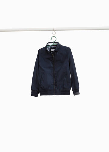 Jacket with high neck and zip