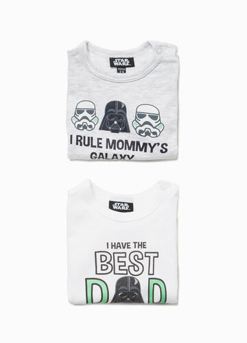 Two-pack cotton bodysuits with Star Wars print