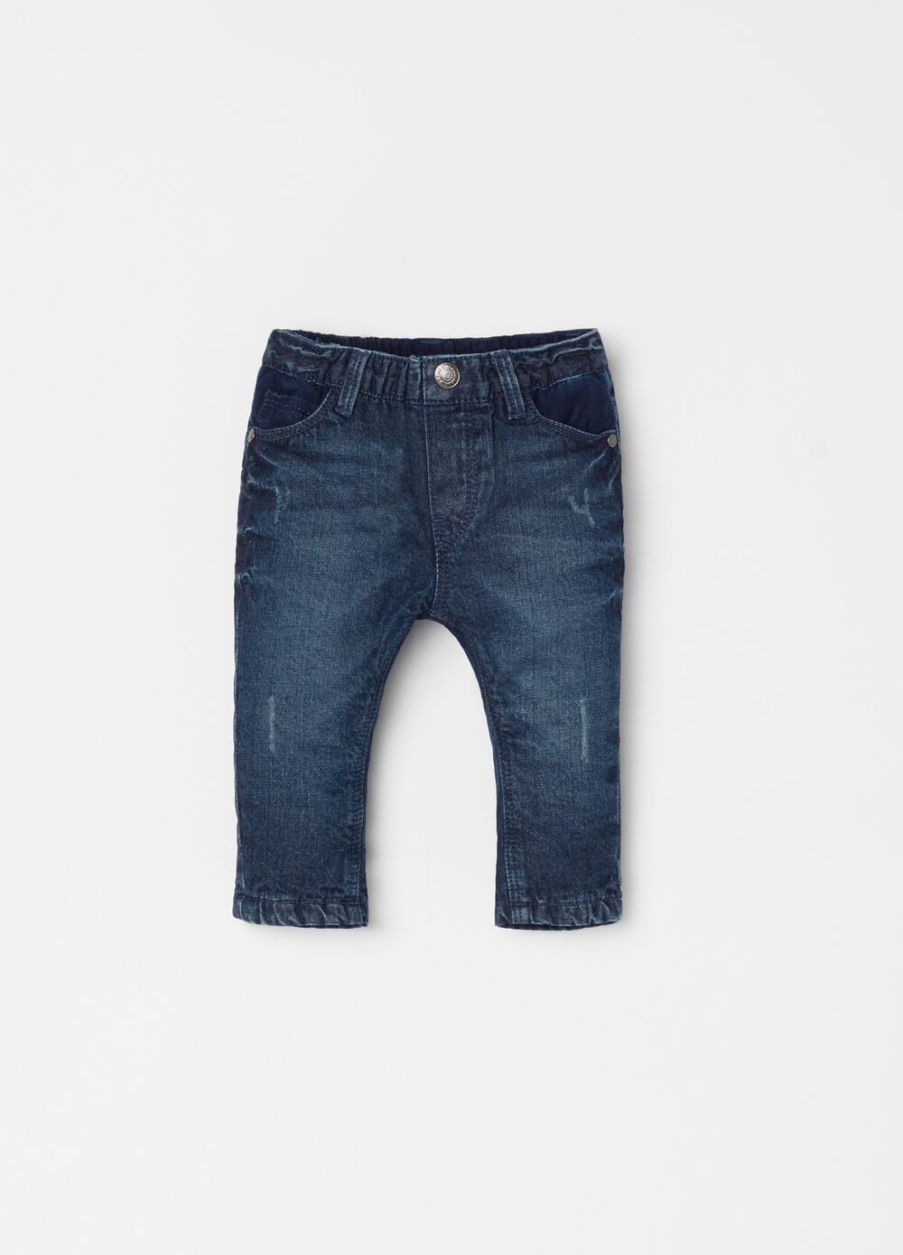Washed jeans with five pockets