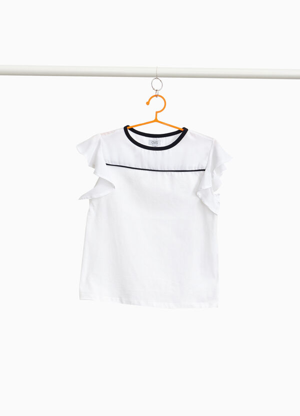 100% cotton T-shirt with pleating