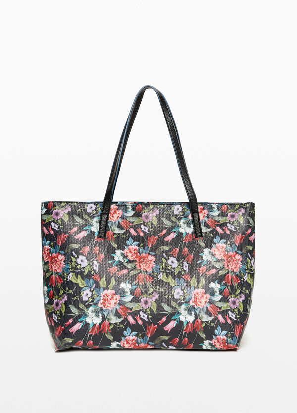 Shopping bag with floral print