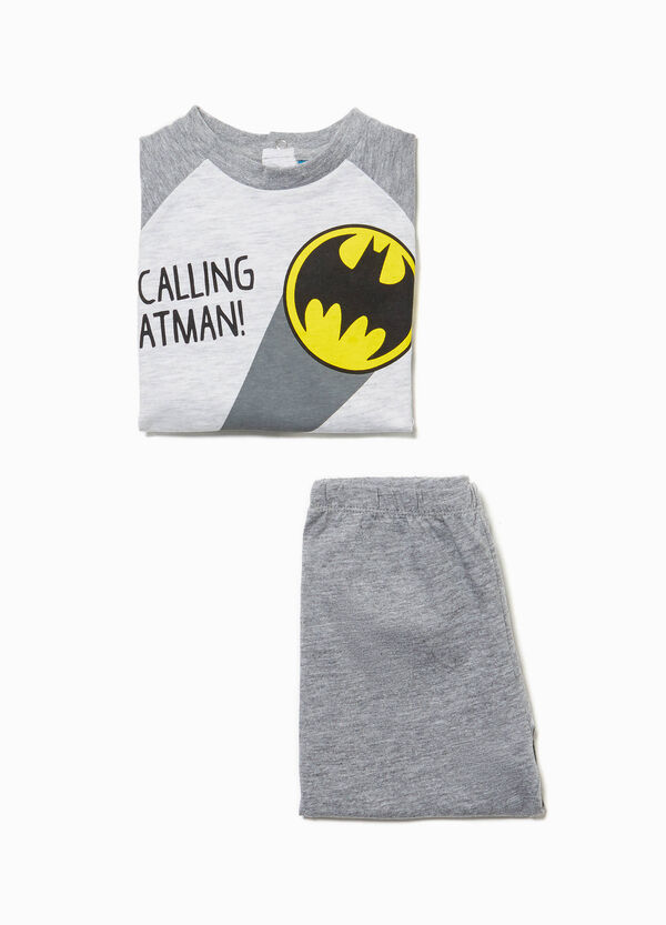 Maxi Batman print cotton pyjamas