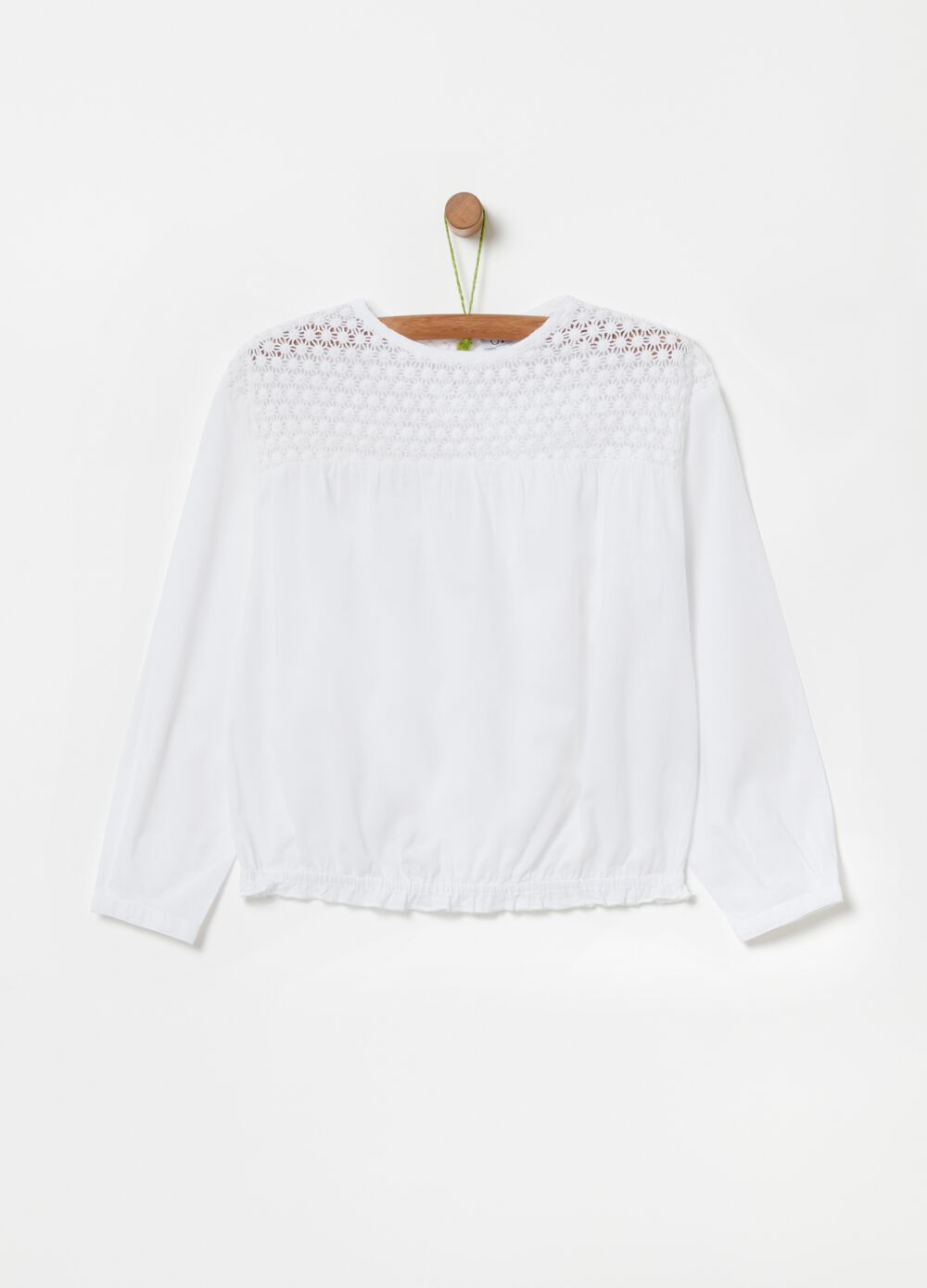 100% organic cotton macramé blouse