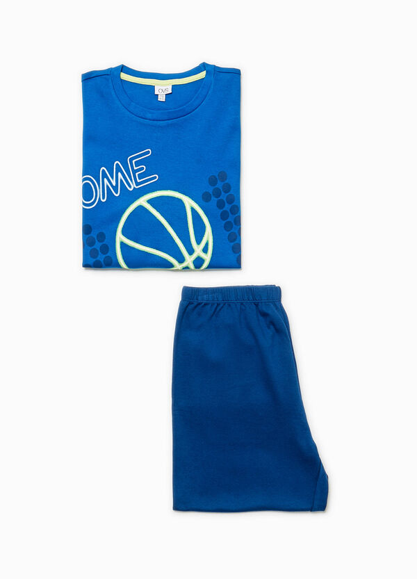 Pyjamas with basketball print