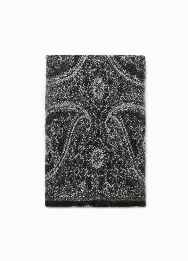 Jacquard scarf with paisley pattern | OVS