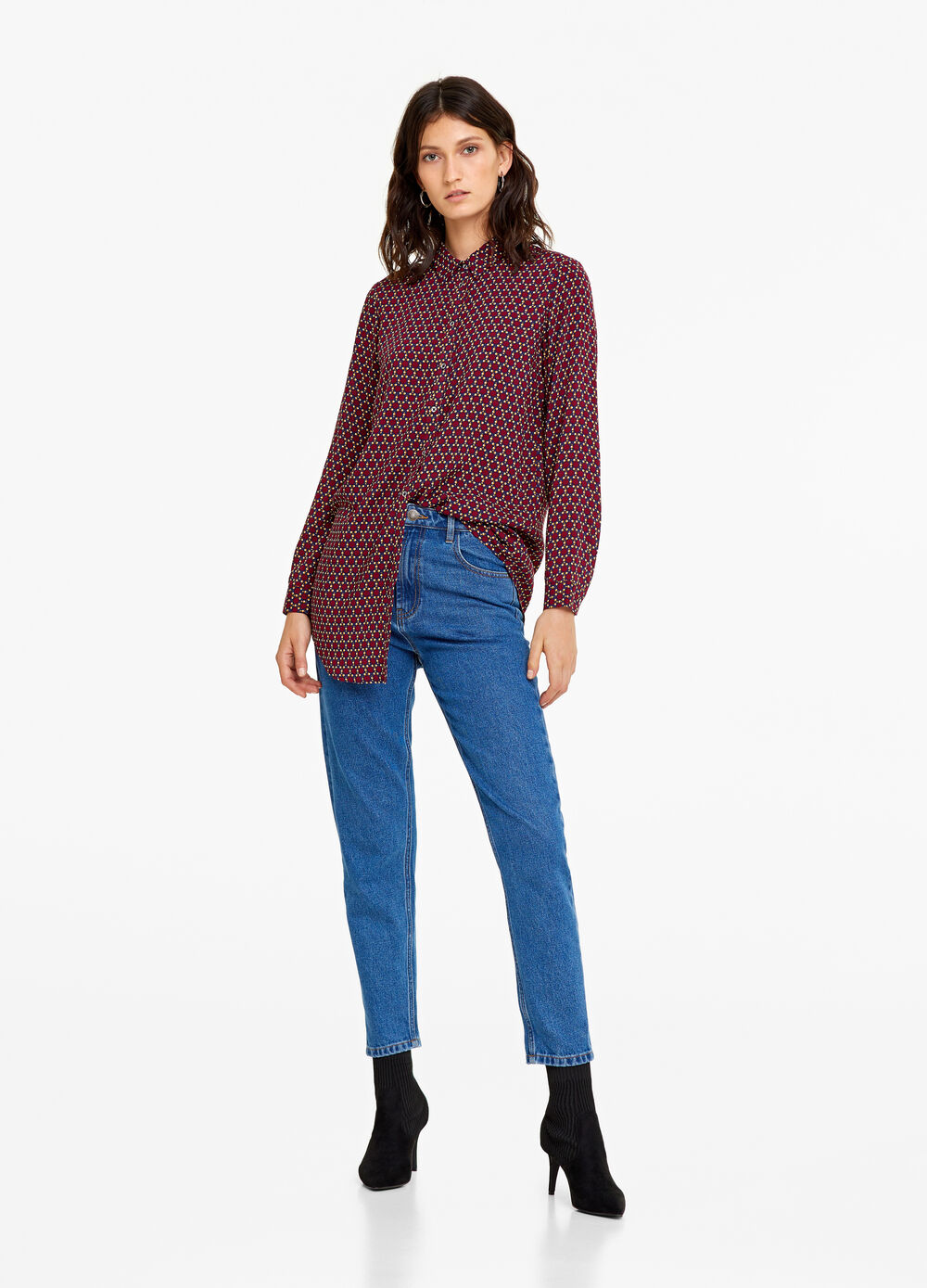 Long shirt with pattern