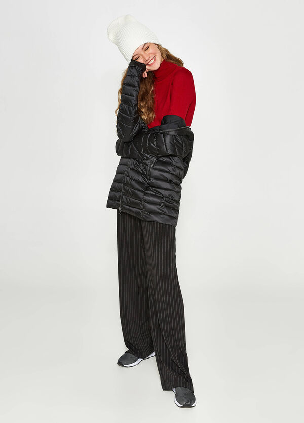 Long down jacket with hood   OVS