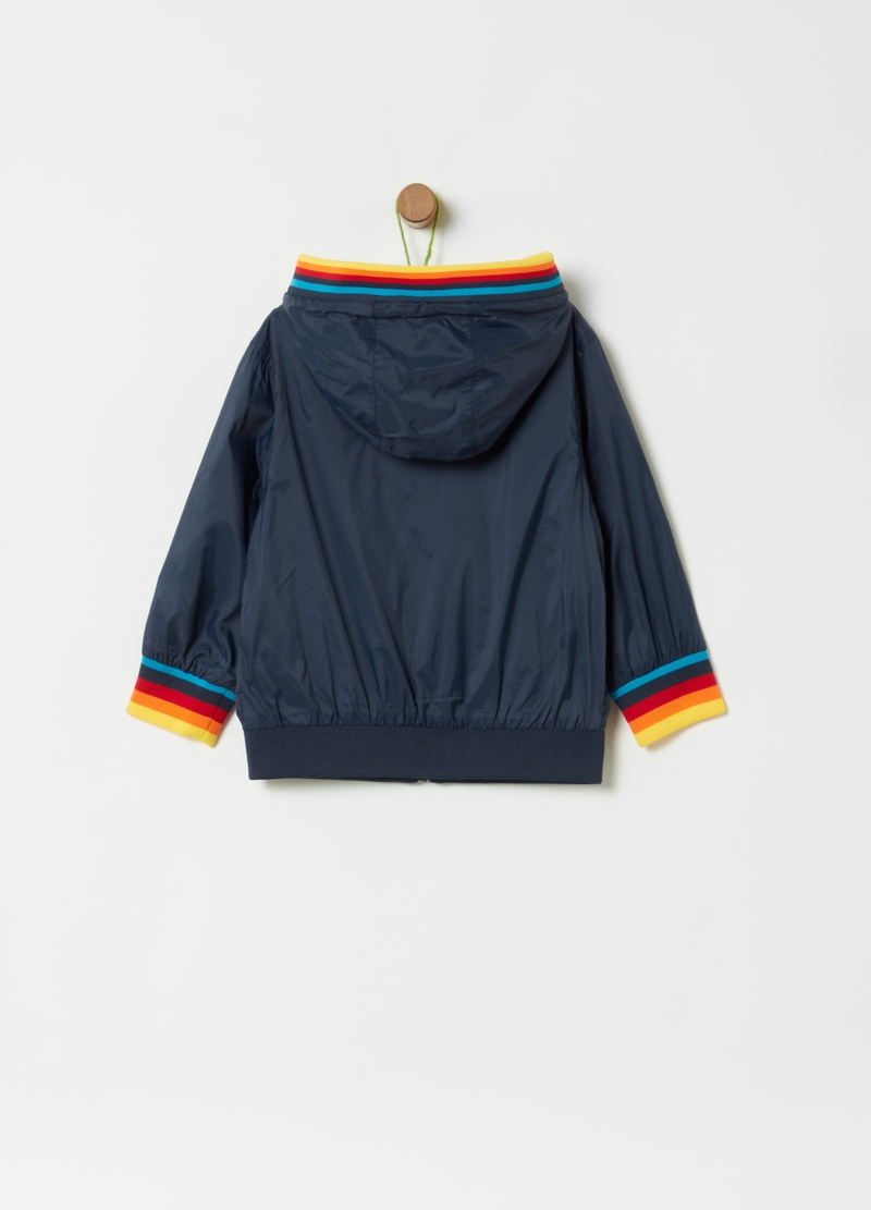 Lightweight bomber jacket with hood image number null