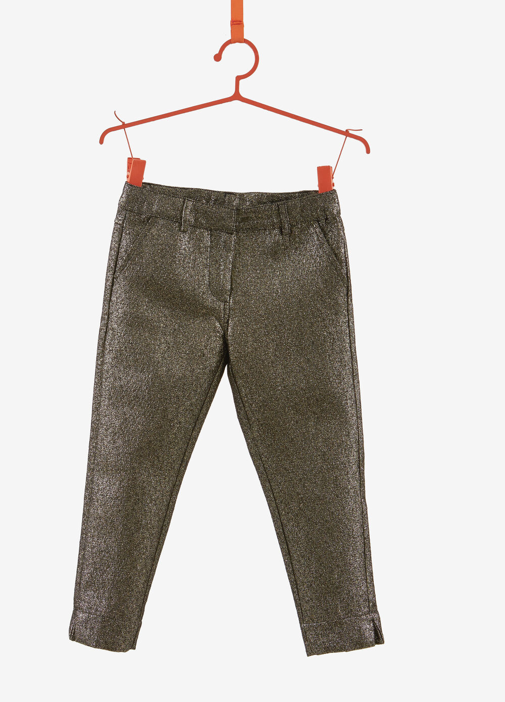 Cotton blend trousers with lurex