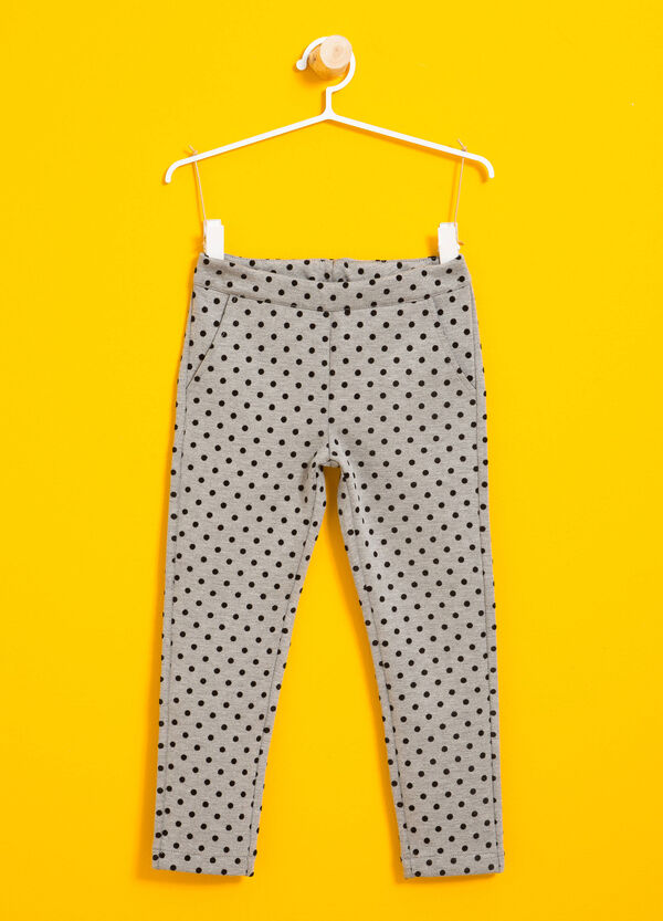 Viscose joggers with polka dot pattern | OVS