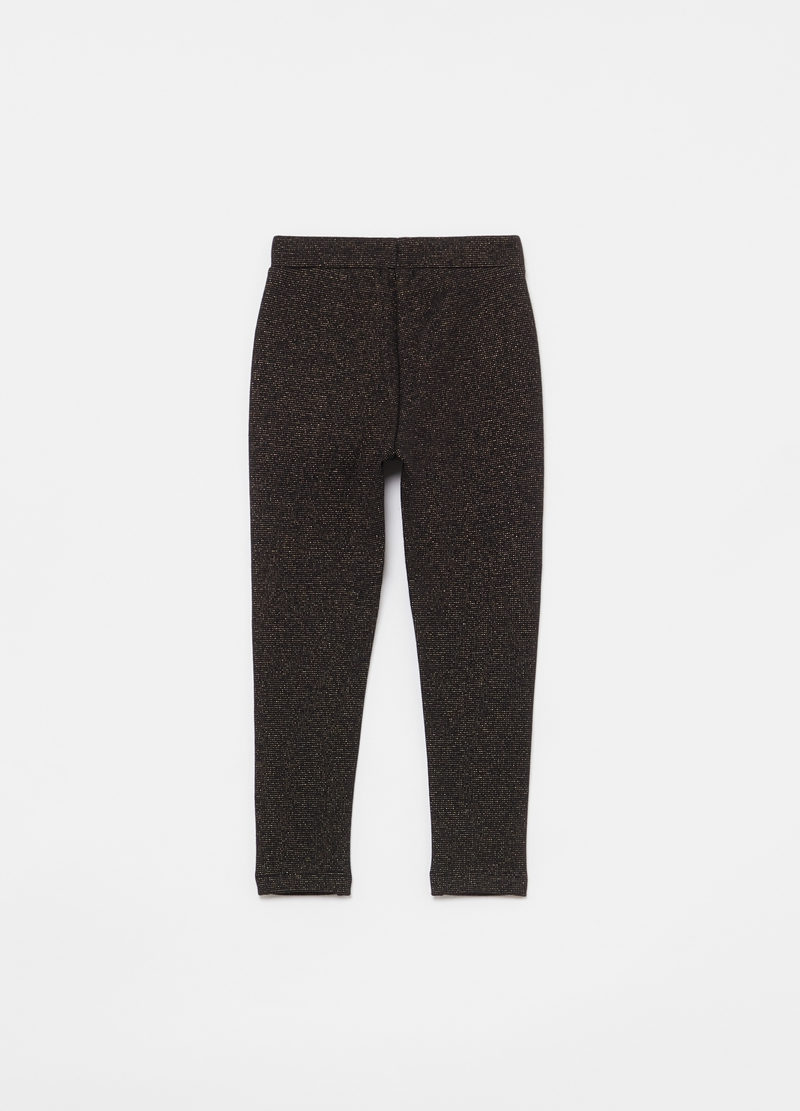 Jacquard treggings with lurex image number null