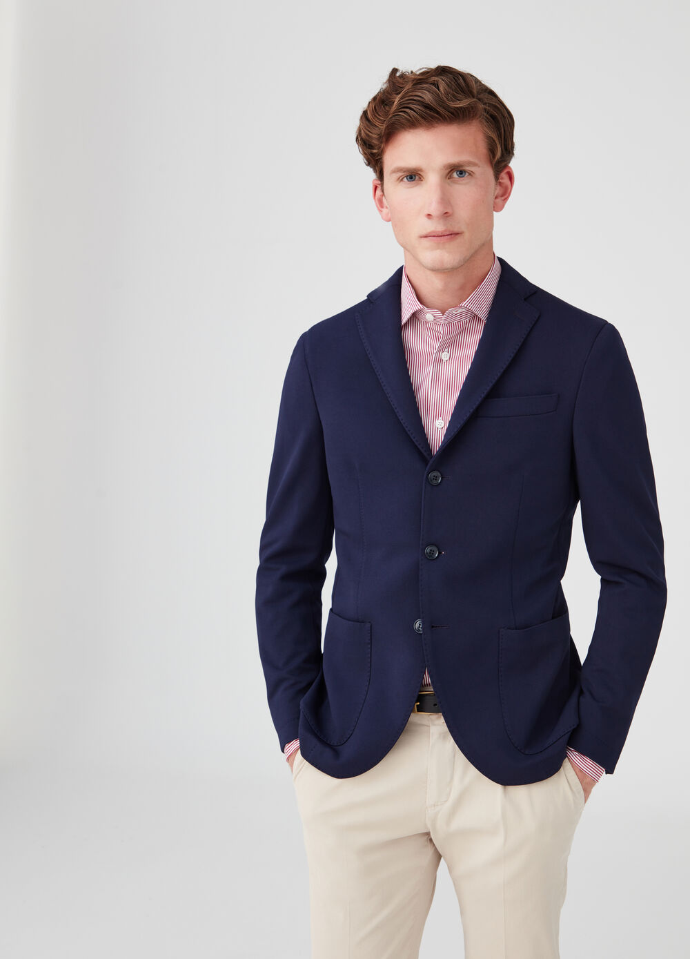 Rumford stretch blazer with lapels