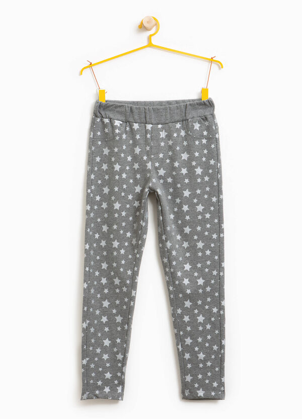 Cotton blend star trousers | OVS