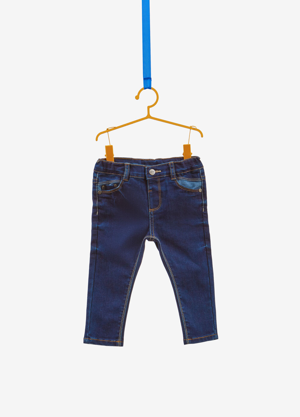 Jeans regular fit stretch con patch