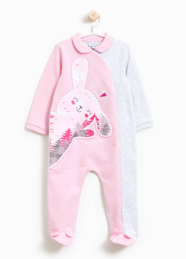 Two-tone sleepsuit in 100% cotton | OVS